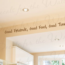 Decals for the Wall - Wall Decal Quote Sticker Vinyl Art Large Good Friends Food Times Friendship FR17 - This decal says ''Good Friends, Good Food, Good Times''