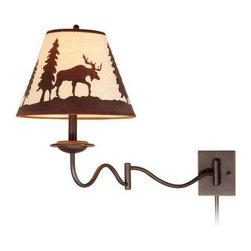 Vaxcel Lighting - Vaxcel Lighting WL55612 Yellowstone 1 Light Swing Arm Wall Sconce - Features: