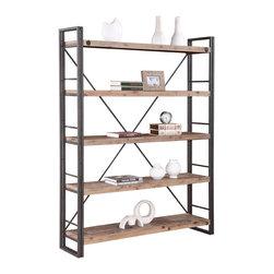 #N/A - Brooklyn Large Open Bookshelf - Brooklyn Large Open Bookshelf. Style: Modern, Width: 15, Depth: 11, Height: 27