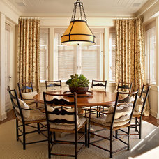 Beach Style Dining Room by David Phoenix Interior Design