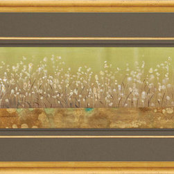 Paragon Decor - Blooming Meadow I Artwork - Mixed Media Gold Leaf