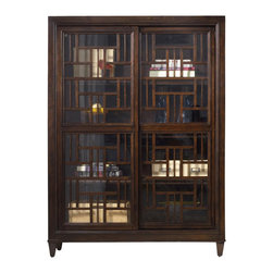 Hooker Furniture - Hooker Furniture Ludlow Bunching Bookcase - Hooker Furniture - Bookcases - 103011353 - With a metropolitan and modern attitude Ludlow is distinguished by an intriquing walnut veneer story and hip fretwork detail.