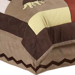 Dinosaur Land Bed Skirt Queen
