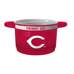 Boelter Brands - Cincinnati Reds Game Time Bowl - Add a sporty accent to kitchen décor with this game time jar! Featuring the home team's logo and a spacious interior, it provides the perfect space for homemade cookies.   Holds 12 oz. Ceramic Hand wash Imported