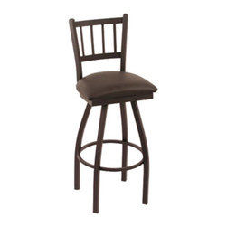Holland - Holland 30 in. Cambridge Slat Back Bar Stool - Black Wrinkle Finish - Black Viny - Shop for Stools from Hayneedle.com! Premium seating for everyday use or special occasions the Holland 30 in. Cambridge Slat Back Bar Stool - Black Wrinkle Finish - Black Vinyl Seat is your must-have solution for everything from celebration brunches to casual after dinner drinks. It features a comfortable durable vinyl seat and a relaxing swivel function for your comfort and it doesn't have arms so you have all the space you need. It's all finished with a supportive metal frame assembled with solid welding for superior strength. Please note: This item is not intended for commercial use. Warranty applies to residential use only.About Holland Bar StoolsWith over 25 years of experience in the commercial furniture industry Cambridge Stool Co. was founded on the principles of fine quality craftsmanship and service. As an industry leading manufacturer of upscale commercial quality barstools tables and chairs we use the finest high quality plating grade steel to produce this 30 (bar height) swivel stool to insure a high quality and long lasting finish. Seats are covered in a durable leather-like vinyl. This stool comes with a 5 year residential warranty that covers any defects in workmanship or materials. There is a Lifetime Warranty on the swivel. Stool Rated for up to 400 lbs. For cleaning use a damp cloth or Formula 409 cleaner. Do not use abrasive cleaners or strong solvents. Made in the USA.