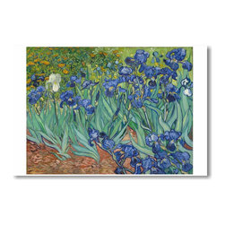 "PosterEnvy - Irises 1889 - Vincent Van Gogh - Art Print POSTER - 12"" x 18"" Irises 1889 - Vincent Van Gogh - Art Print POSTER on heavy duty, durable 80lb Satin paper"