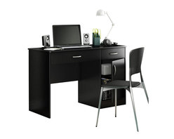 South Shore - South Shore Axess Small Computer Desk in Pure Black - South Shore - Computer Desks - 7270070 - Need to tidy up your home office? This Axess collection small desk is perfect for all your storage needs! Its design includes all the space you need for a well-organized workspace thanks to its closed storage spaces. In addition the work surface is great.