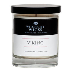 Witch City Wicks - Viking Soy Candle - The salty scent of this Witch City Wicks candle would appeal to any guy who can't stop talking about their next big wave, next deep-sea dive, next sailing regatta. Well, you get the point!