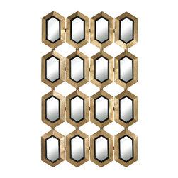 Sterling Industries - Sterling Industries 132-008 Honeycomb Mirror - Mirror (1)
