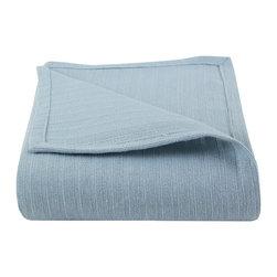 Luxor Linens - Albergare Luxury Blanket, Carolina Blue - 100% Cotton
