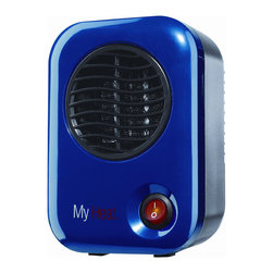 Lasko - Lasko 102 Blue My Heat Personal Heater - This personal My Heat heater warms the body with penny-saving 200 watts. The heater is designed to specifically heat personal space and comes in a vibrant blue finish.