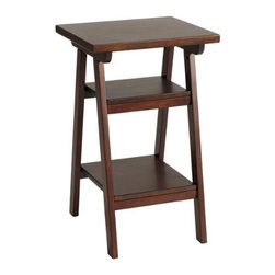 "Sawhorse Printer/Fax Tab - This ""sawhorse"" style table is super versatile.  It's a printer/fax table but will also work as a side table, too.  Use this piece in a home office and it will free up your desk top for more important things."
