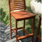 Acacia Hardwood Bar Height Chair