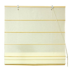Oriental Unlimited - Cotton Roman Shades in Cream (48 in. Wide) - Choose Size: 48 in. WideThese Cream colored Roman Shades combine the beauty of fabric with the ease and practicality of traditional blinds. Made of 100% cotton. Easy to hang and operate. 24 in. W x 72 in. H. 36 in. W x 72 in. H. 48 in. W x 72 in. H. 60 in. W x 72 in. H. 72 in. W x 72 in. H