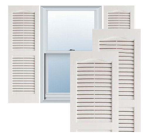 "Alpha Systems LLC - 14"" x 80"" Premium Vinyl Open Louver Shutters,w/Screws, White - Our Builders Choice Vinyl Shutters are the perfect choice for inexpensively updating your home. With a solid wood look, wide color selection, and incomparable performance, exterior vinyl shutters are an ideal way to add beauty and charm to any home exterior. Everything is included with your vinyl shutter shipment. Color matching shutter screws and a beautiful new set of vinyl shutters."