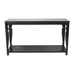 NOIR - NOIR Furniture - Contrary Sofa Table in Hand Rubbed Black - GCON113HB - Features: