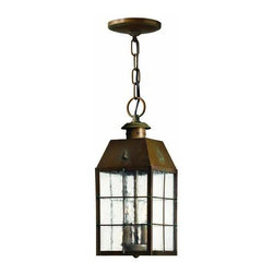 Hinkley - Hinkley Nantucket Two Light Aged Brass Hanging Lantern - 2372AS - This Two Light Hanging Lantern is part of the Nantucket Collection and has an Aged Brass Finish. It is Outdoor Capable, and Damp Rated.