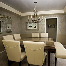 Transitional Dining Room by Beverly Bradshaw Interiors