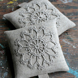 Lavender Sachets, Crochet Motif by Namolio - Put these beautiful handmade lavender sachets in your closet, drawers and all the places you store away your winter clothes. Not only does lavender smell great, but it has insect-repelling properties too.