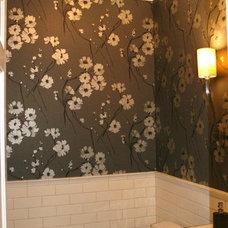 Contemporary Powder Room by LJL Design llc