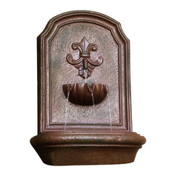 "Sunnydaze Decor - Noblesse Outdoor Wall Fountain Iron - Dimensions: 18""Wide x 10.5"" Deep x 26.5""High, 11 lbs"