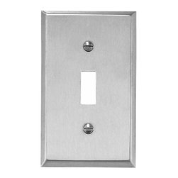 Renovators Supply - Switchplates Brushed Stainless 1 Toggle or Dimmer Switch Plate - Switchplates: It only takes a moment to reinvigorate a room with these Stainless Steel wallplates.