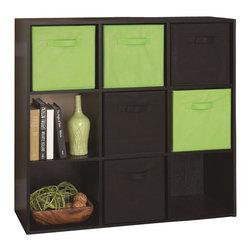 Ameriwood - Ameriwood 9 Cube Storage in Black Ebony Ash - Ameriwood - Storage Units - 7642026P
