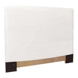 Howard Elliott - Avanti  Twin Headboard Slipcover - Refresh the look of your slipcovered headboard simply by updating the cover! Change with the seasons, or on a whim. This piece features a white faux leather cover.