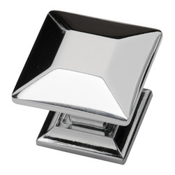Southern Hills - Polished Chrome Kitchen Cabinet Knobs by Southern Hills, Pack of 5 - Is your kitchen looking a little dated? The good news is that a new look is as close as this square polished chrome cabinet knob from Southern Hills.  The polished chrome complements a wide variety of cabinet finishes and lends a modern look to your kitchen or bath. In fact, this cabinet hardware won't just lend your space a fresh look; you'll get to keep it!  This pack contains 5 Knobs.
