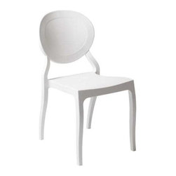 "Eurostyle - Eurostyle Vasska Stacking Side Chair in White Polypropylene [Set of 2] - Stacking Side Chair in White Polypropylene belongs to Vasska Collection by Eurostyle Polypropylene. Indoor/outdoor. Stacking. Fully assembled. Seat height: 17.5"". Side Chair (2)"