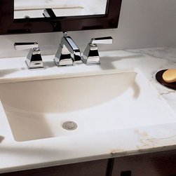 """TCS Home Supplies - Rectangular White Porcelain Ceramic Vanity Undermount Bathroom Vessel Sink - 20- - Undermount Bathroom Sink.  Porcelain Ceramic.  Rectangular Shaped.  Available in White or Biscuit Finish. Match All Countertop-mount Bathroom Faucets.  Exterior Dimensions 20-3/4"""" x 14-5/8"""" x 6-3/4"""". Interior Dimensions 18-1/2"""" x 12-1/2"""" x 6-3/4""""."""