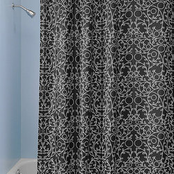 InterDesign - Black & White Twigs Shower Curtain - Add sophisticated style to your bathroom décor with this eye-catching shower curtain, distinguished by its striking design and easy-care construction.   72'' W x 72'' H 100% polyester Machine wash Imported