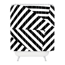 DENY Designs - Three Of The Possessed Dazzle Uptown Shower Curtain - Who says bathrooms can't be fun? To get the most bang for your buck, start with an artistic, inventive shower curtain. We've got endless options that will really make your bathroom pop. Heck, your guests may start spending a little extra time in there because of it!
