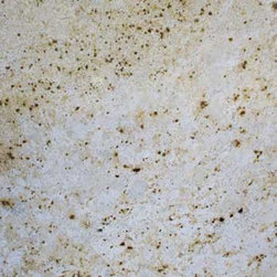Colonial Cream Granite - This granite is a nice choice with a creamy and brown tones and not too much movement in the stone - in other words not to busy.