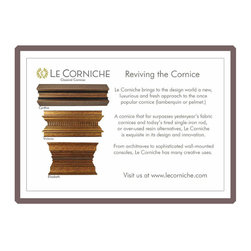 Le Corniche - Le Corniche setting the standard for reviving the cornice. See the collection at www.LeCorniche.com (c) LeCorniche