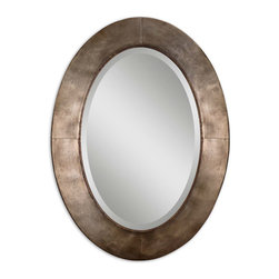 mirrors - Hand forged metal frame with a heavily antiqued silver champagne leaf finish
