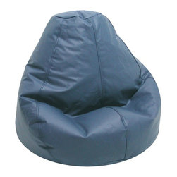 Elite Products - Lifestyle 34 in. Adult Bean Bag w Zipper - Every casual space should have bean bag seating. Choose chairs for the entire family including adult sizes in stylish muted blue. They're filled just right for creating a surround of support and ultimate relaxation. Vinyl is stain and spill resistant. Long lasting and durable. Double stitched with double overlap folded seam. Double zippered bottom for added security. Childproof safety lock zippers (pulls have been removed). Can easily be refilled by an Adult. Light, convenient to move and store. Easy to Clean. Recommended seating age: 10 to young adult. Warranty: One year limited. Made from PVC vinyl and polystyrene bead. Made in USA. No assembly required. 34 in. L x 34 in. W x 27 in. H (8 lbs.)Adults can settle into these for superior comfort and support. Bean bag chairs are a great choice for dorm rooms and apartments, Our Lifestyle bean bags are the perfect way to furnish your place without filling your rooms with lots of space-consuming furniture.