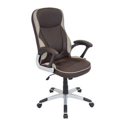 "Lumisource - Storm Office Chair, Brown - 28"" L x 25.5"" W x 42.75"" - 47.5"" H"