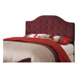 Kinfine - Burgundy Full/Queen Tufted Headboard - This luxurious headboard features a convertible style, making it adaptable for full or queen size beds. Rich fabric coloring and button tufting make this headboard an elegant addition to any bedroom.