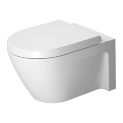 Duravit - Duravit | Starck 2 Wall-Mounted Toilet With Durafix - Design by Philippe Starck.Made in Germany by Duravit.A part of the Starck 2 Collection. Blending style with functionality, the Starck 2 Wall-Mounted Toilet With Durafix is the perfect way to create a luxurious environment in your bathroom. Made out of durable, easy to clean porcelain, this sturdy and practical toilet can withstand daily use. Its wall hung design conserves floor space and makes sweeping underneath easy. Product Features: