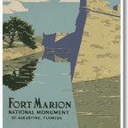 PosterEnvy - Ft Marion, St. Augustine, Fl, National Park Service, Vintage Reproduction Poster - Ft Marion, St. Augustine, Fl, National Park Service, Vintage Reproduction Poster