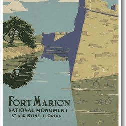 PosterEnvy - Ft Marion, St. Augustine, Fl, National Park Service, Vintage Reproduction Poster - Ft Marion, St. Augustine, Fl, National Park Service, Vintage Reproduction Poster