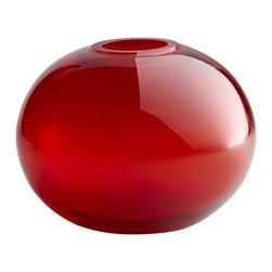 Cyan Design - Cyan Design Small Red Pod Vase in Red - Small Red Pod Vase in Red