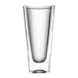 Jay Import Co. - Fitz & Floyd Libra Crystal Vase Small - Complement bouquets of your favorite flowers with this striking Libra Crystal Vase by Fitz & Floyd. This vase is beautifully designed with dynamic texture that captures and accentuates the light in any room.