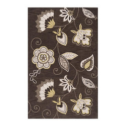 "Surya - Surya Impressions Hand Tufted Brown Polyester Rug, 8' x 10'6"" - Enjoy this Surya rug in your home. Imported.Material: 100% PolyesterCare Instructions: Blot Stains"