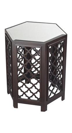 Sterling Industries - Marrakesh Moorish Pattern Side Table with Mirrored Top - Marrakesh-Moorish Pattern Side Table with Mirrored Top by Sterling Industries