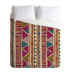 DENY Designs - Valentina Ramos Ethnic Stripes Duvet Cover - Turn your basic, boring down comforter into the super stylish focal point of your bedroom. Our Luxe Duvet is made from a heavy-weight luxurious woven polyester with a 50% cotton/50% polyester cream bottom. It also includes a hidden zipper with interior corner ties to secure your comforter. it's comfy, fade-resistant, and custom printed for each and every customer.