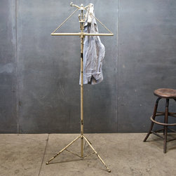 Vintage Power Plant Folding Coat Rack - Love this amazing and unique vintage coat rack.