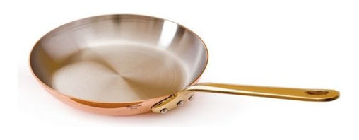 """Mauviel - Mauviel M'heritage Copper & Stainless Steel Round Frying Pan, 8.7"""" - Bilaminated copper stainless steel (90% copper and 10% 18/10 stainless steel)"""