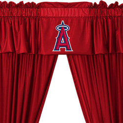 store51 - MLB Los Angeles Angels Drape Valance Set Baseball Drapery, 82 Wide X 84 Drop - FEATURES: